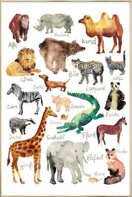 The Animal Kingdom Affiche sous cadre en aluminium