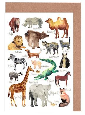 The Animal Kingdom cartes de vœux