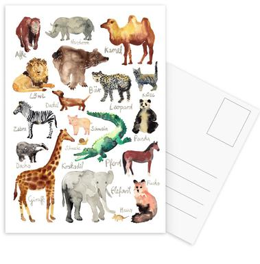 The Animal Kingdom Postcard Set