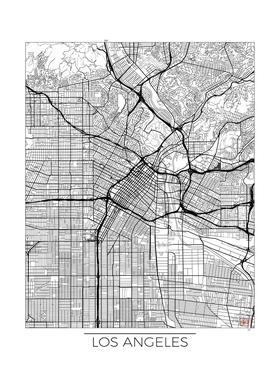 Los Angeles Minimal Canvas Print