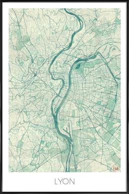 Lyon Vintage Framed Poster
