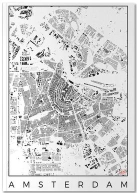 Amsterdam Map Schwarzplan Notebook