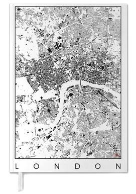 London Map Schwarzplan Personal Planner