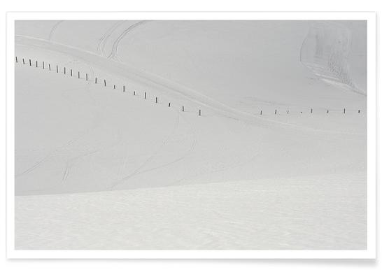 Lines in the Snow Poster