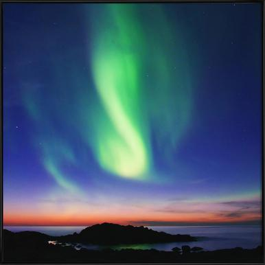 The Northern Lights 01 -Bild mit Kunststoffrahmen