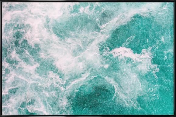 Whitewater 2 -Bild mit Kunststoffrahmen