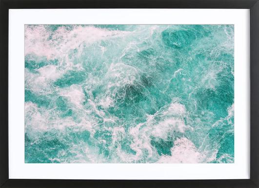 Whitewater 3 -Bild mit Holzrahmen