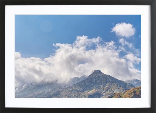 Gotthard Pass ingelijste print