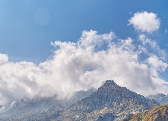 Gotthard Pass Leinwandbild