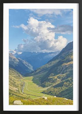 Swiss Valley Poster im Holzrahmen