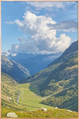 Swiss Valley Poster im Alurahmen