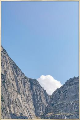 The White Cloud Poster im Alurahmen