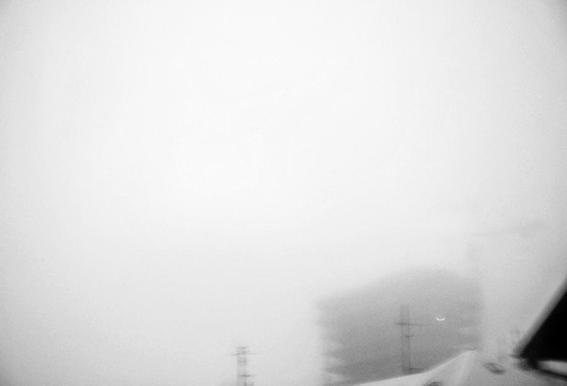 Reykjavík in the mist 2 -Acrylglasbild
