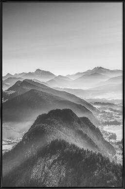 Balloon Ride over the Alps 3 Poster im Kunststoffrahmen