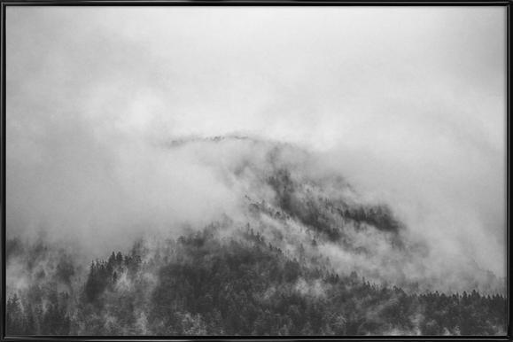 Moody Clouds 1 -Bild mit Kunststoffrahmen