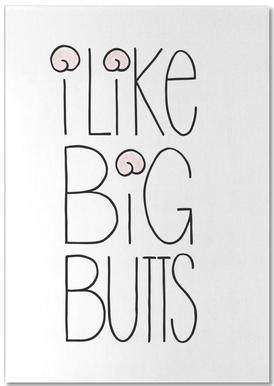 I Like Big Butts bloc-notes