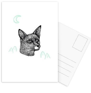Celestial Fox Postcard Set