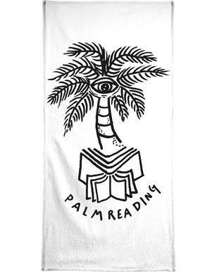 Palm Reading White Serviette de bain