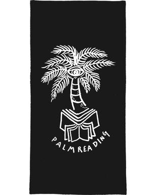 Palm Reading Black Serviette de bain