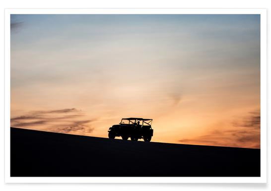 Sunset Sillhouettes Poster