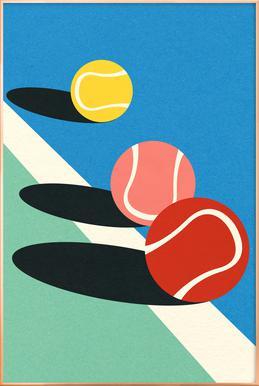 3 Tennis Balls Poster in aluminium lijst