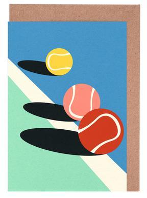 3 Tennis Balls Greeting Card Set