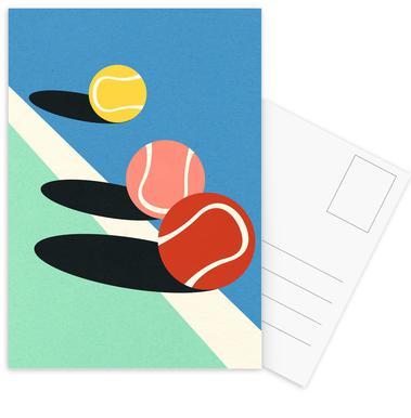 3 Tennis Balls Postkortsæt