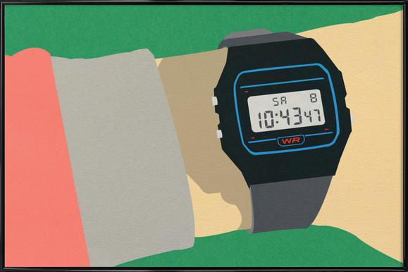 90s Watch Poster in kunststof lijst