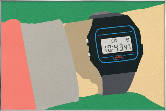 90s Watch -Poster im Alurahmen