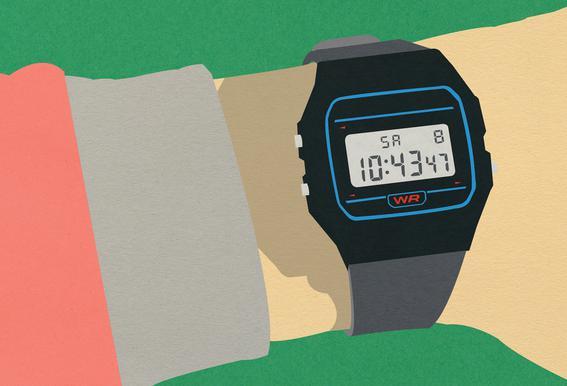 90s Watch Plakat af aluminum