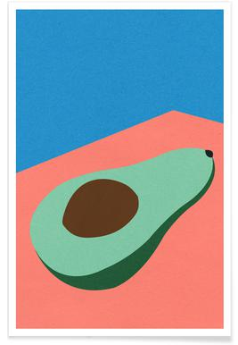 Avocado on the Table Poster