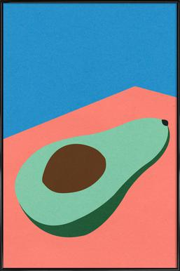 Avocado on the Table Poster in kunststof lijst