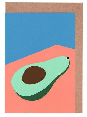 Avocado on the Table -Grußkarten-Set