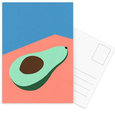 Avocado on the Table Postkortsæt