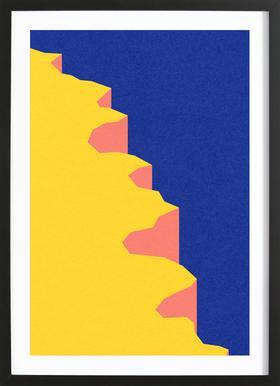 Big Sur V Poster im Holzrahmen