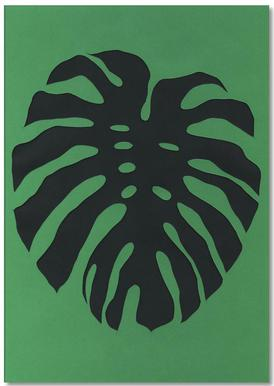 Black Monstera -Notizblock
