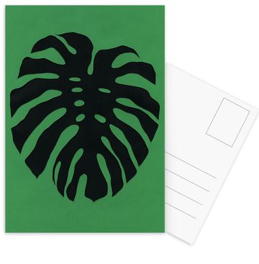 Black Monstera -Postkartenset