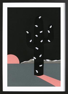 Black Sierra Nevada affiche sous cadre en bois