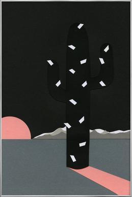 Black Sierra Nevada Poster in Aluminium Frame