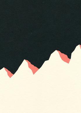 Dark Night White Mountains Leinwandbild