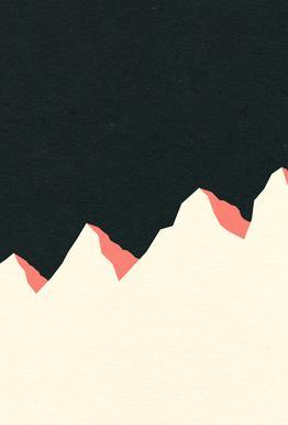 Dark Night White Mountains -Acrylglasbild
