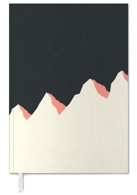 Dark Night White Mountains Personal Planner