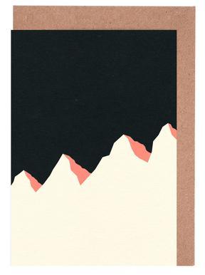 Dark Night White Mountains Greeting Card Set