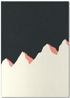 Dark Night White Mountains -Notizblock