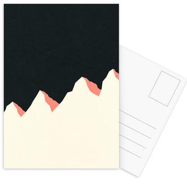 Dark Night White Mountains Postkortsæt