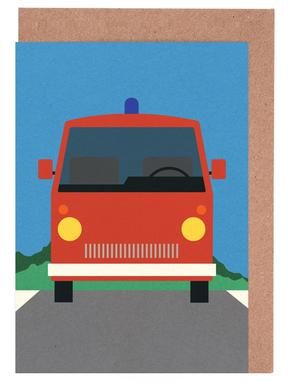 Fire Engine Greeting Card Set