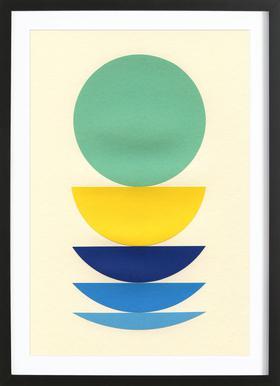 Five Circles Poster in houten lijst