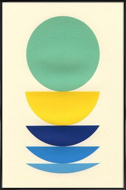 Five Circles Poster im Kunststoffrahmen