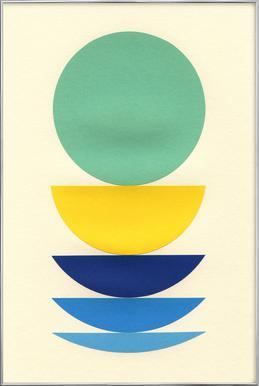 Five Circles Poster im Alurahmen