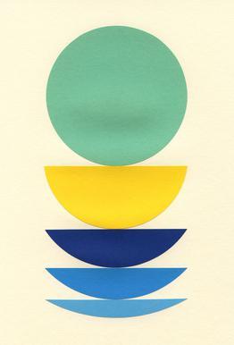 Five Circles Plakat af aluminum